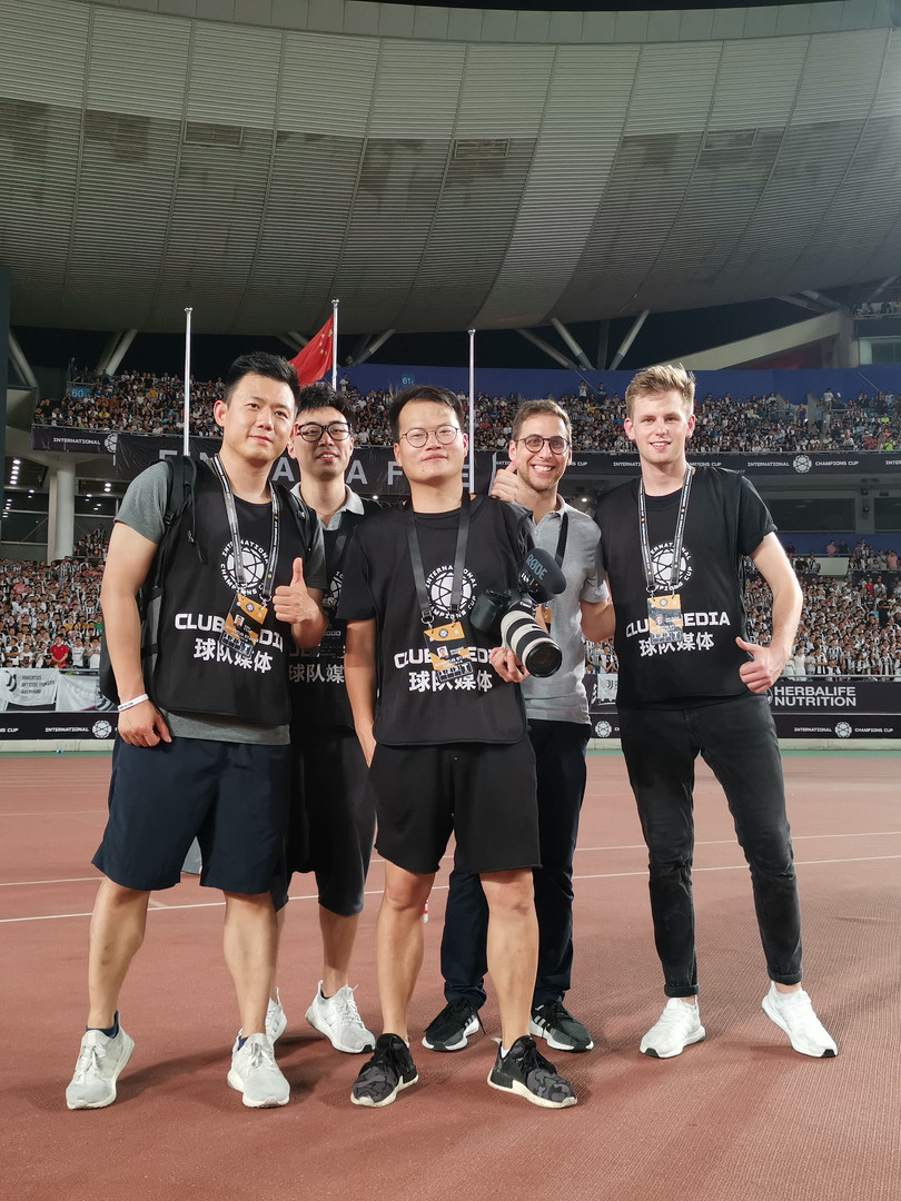 Mailman team on Tour in Singapore with Juventus