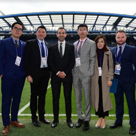 Mailman Senior Team with Weibo Sports & Chelsea at Stamford Bridge