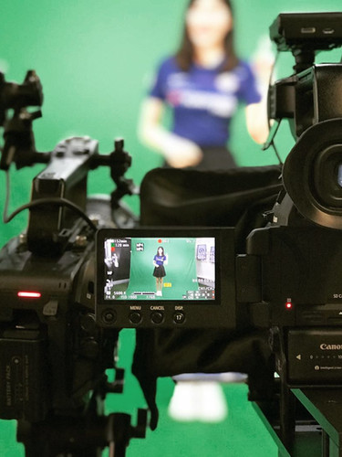 Chelsea green screen filming