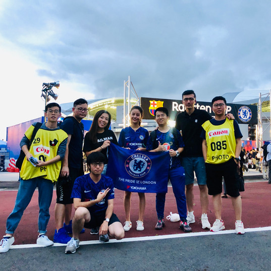Chelsea Team in Japan for their Asia tour
