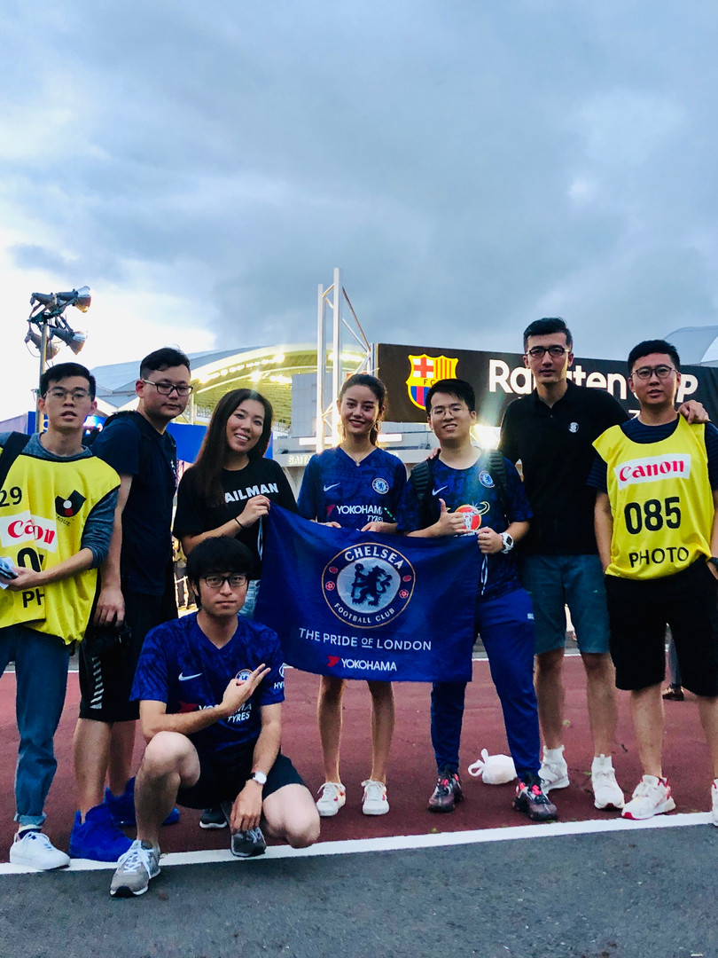 Mailman Team in Japan for Chelsea tour