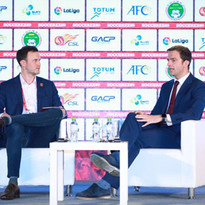 David Hornby, VP of Sports at Mailman, interview Barcelona MD of Asia Jordi Camps at Soccerex 2019