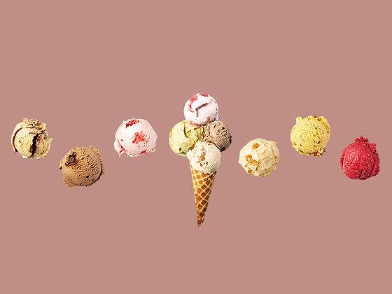 ICE CREAM SET OF 8 flavors *Harlow's choice* *    おまかせ8フレーバーセット