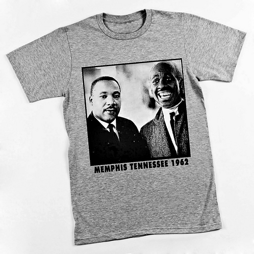 M.L.K. & CLARENCE - HEATHER GRAY T-SHIRT - SMALL