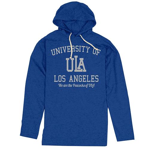 Blue ULA L/S T-Shirt Slimfit Hoodie - XL