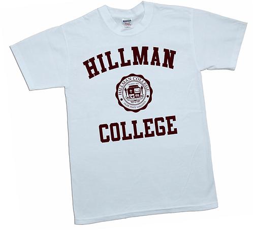 White + Maroon Hillman Tee: 6XL