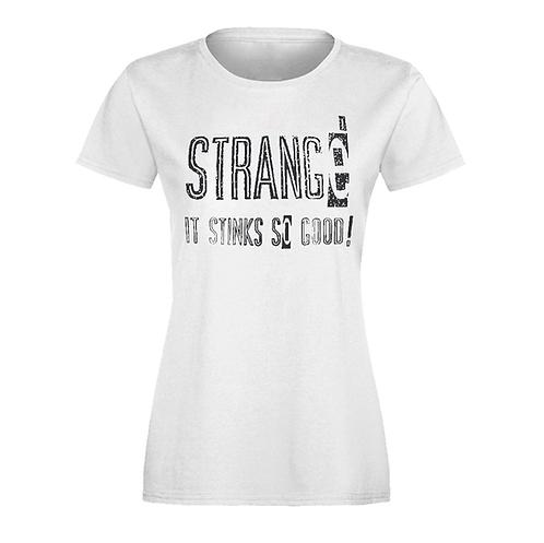 STRANGE - WHITE LADIES S/S T-SHIRT - XL