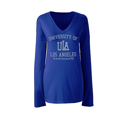 Blue ULA Ladies L/S T-Shirt - EXTRA SMALL