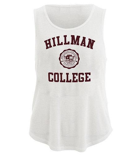 Hillman Ladies White Flowy Tank Top - XL
