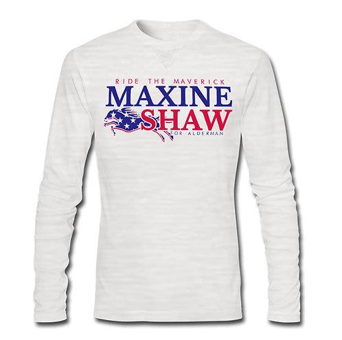 WHITE - MAXINE SHAW DADA L/S ATHLETIC TEE - EXTRA LARGE