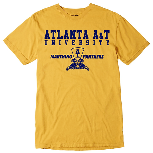 Gold + Navy Atlanta A&T T-Shirt: MEDIUM