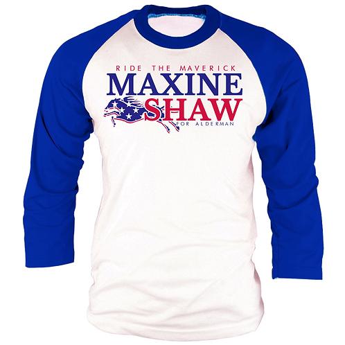 BLUE & WHITE - MAXINE SHAW RAGLAN - SMALL