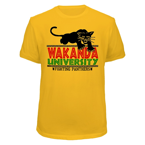 GOLD WAKANDA UNIVERSITY T-SHIRT -MEDIUM