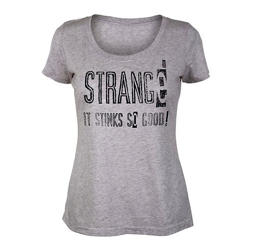 STRANGE - GRAY LADIES S/S T-SHIRT - XL
