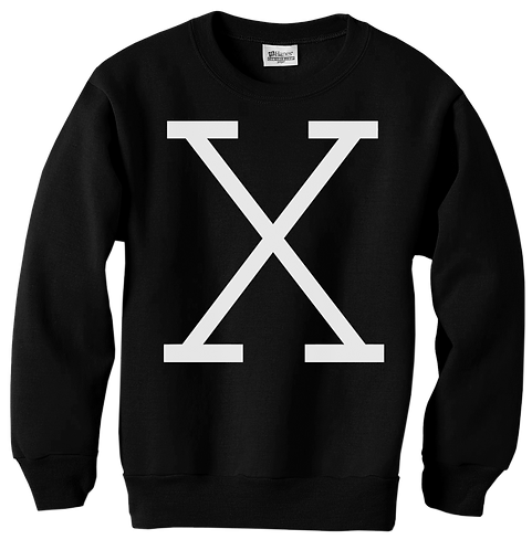 X REVOLUTION BLACK CREWNECK - MEDIUM