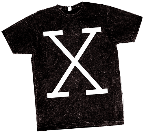 X REVOLUTION VINTAGE BLACK TEE - LARGE