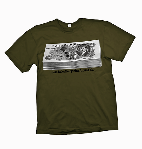 BANK OF ZAMUNDA - ARMY - Tee: MEDIUM