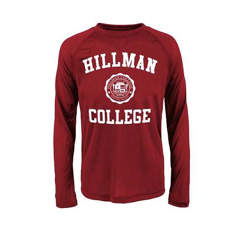 Hillman Cardinal L/S Athletic T-Shirt - LARGE