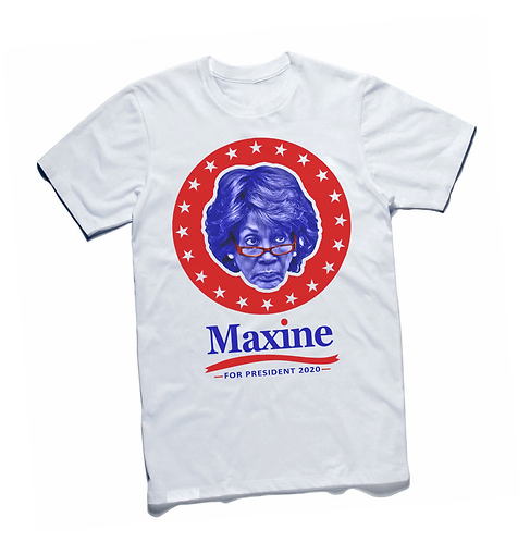 MAXINE WATERS FOR PRESIDENT - WHITE - 2XL