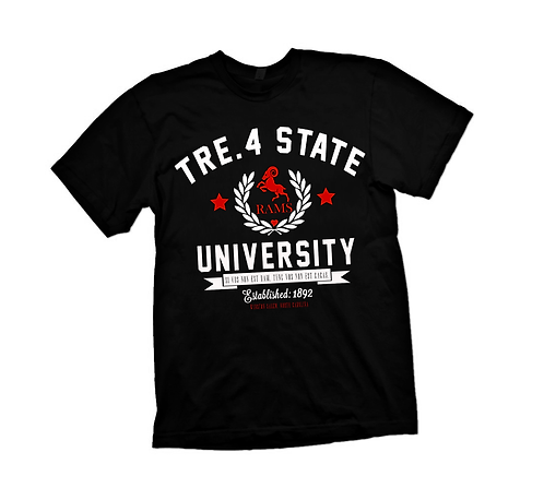 BLACK - TRE.4 STATE UNIVERSITY - 4XL