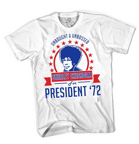 WHITE - SHIRLEY CHISHOLM T-SHIRT - MEDIUM