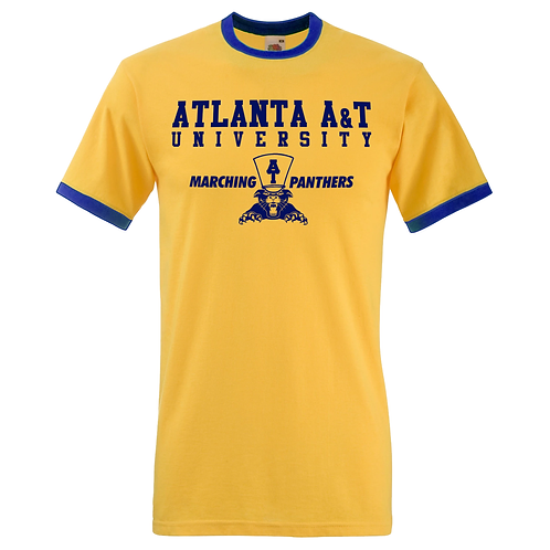 Gold + Navy Atlanta A&T Ringer T-Shirt: MEDIUM