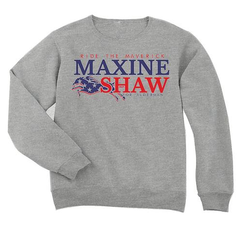 LADIES HEATHER GRAY - MAXINE SHAW SWEATSHIRT - SMALL