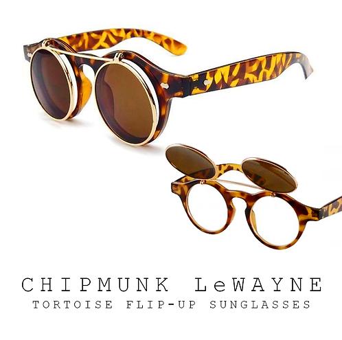 Chipmunk Wayne Sunglasses | Tortoise + Gold