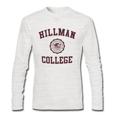 Hillman Dada White L/S Athletic T-Shirt - SMALL