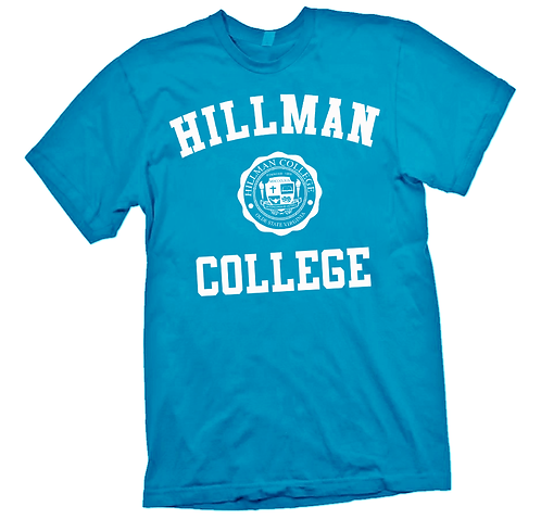 Electric Blue + White Hillman Tee: MEDIUM