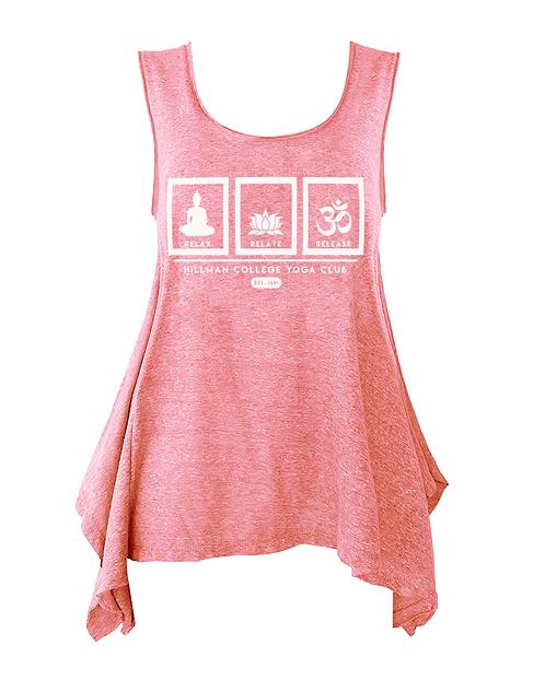 RELAX RELATE RELEASE Ladies Flowy Yogo Tank   Neon Pink & Green: SMAL