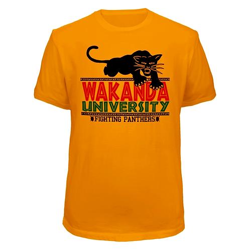 DEEP GOLD WAKANDA UNIVERSITY T-SHIRT - 4XL