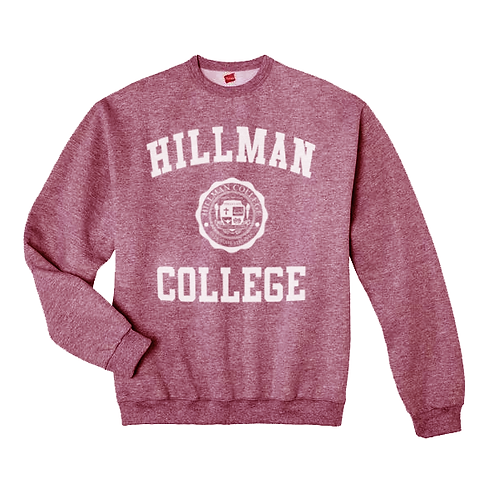 Hillman Heather Maroon Sweatshirt - 2XL