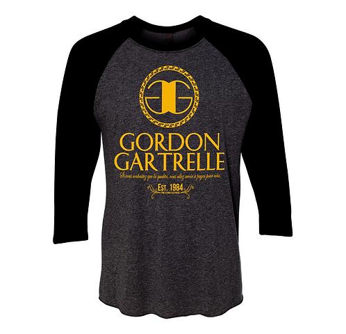 Gordon Black + Gold Raglan: EXTRA LARGE
