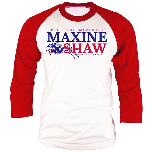 RED & WHITE - MAXINE SHAW RAGLAN - 2XL