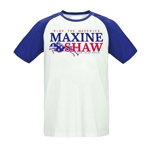 BLUE & WHITE - MAXINE SHAW S/S RAGLAN - XL