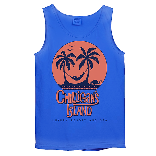 CHILLIGAN'S ISLAND LUXURY RESORT & SPA TANK - RETRO ROYAL: LARGE