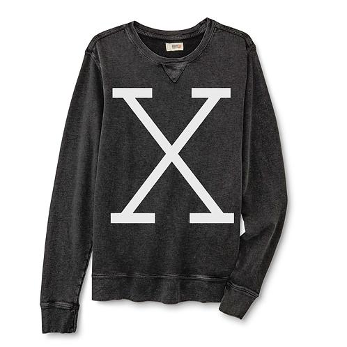X REVOLUTION VINTAGE BLACK CREWNECK - LARGE