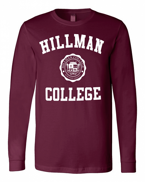 Hillman Maroon L/S T-Shirt - LARGE
