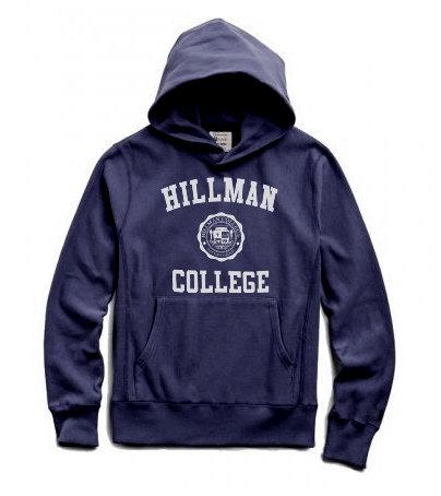 Navy Hillman Hoodie - LARGE