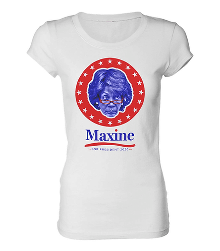 MAXINE WATERS - LADIES T-SHIRT - LARGE