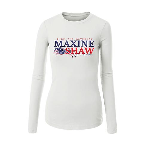 WHITE - LADIES MAXINE SHAW L/S T-SHIRT - MEDIUM