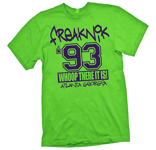 NEON GREEN FREAKNIC TEE - MEDIUM