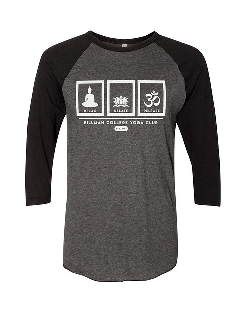 RELAX RELATE RELEASE Raglan - Smoke & Black - SMALL