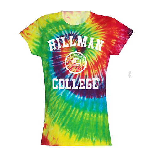 Color Burst Tie Dye Hillman Ladies Tee: LARGE