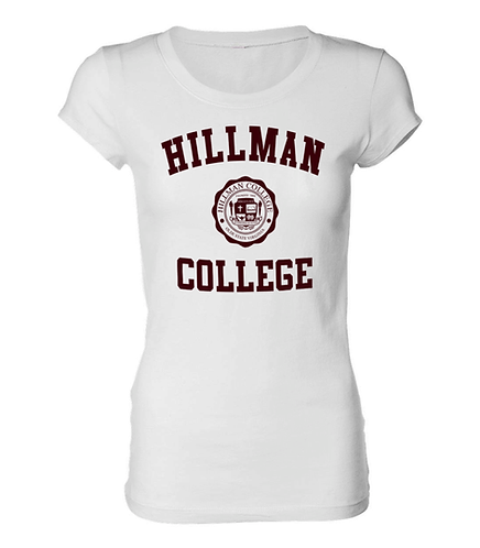 White Hillman Ladies Tee - LARGE