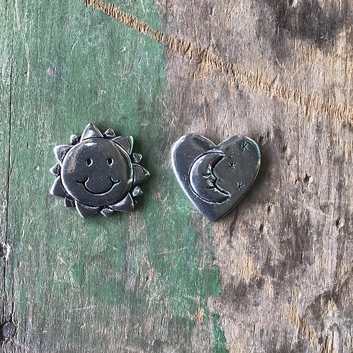 Sun and Moon Pewter Tokens