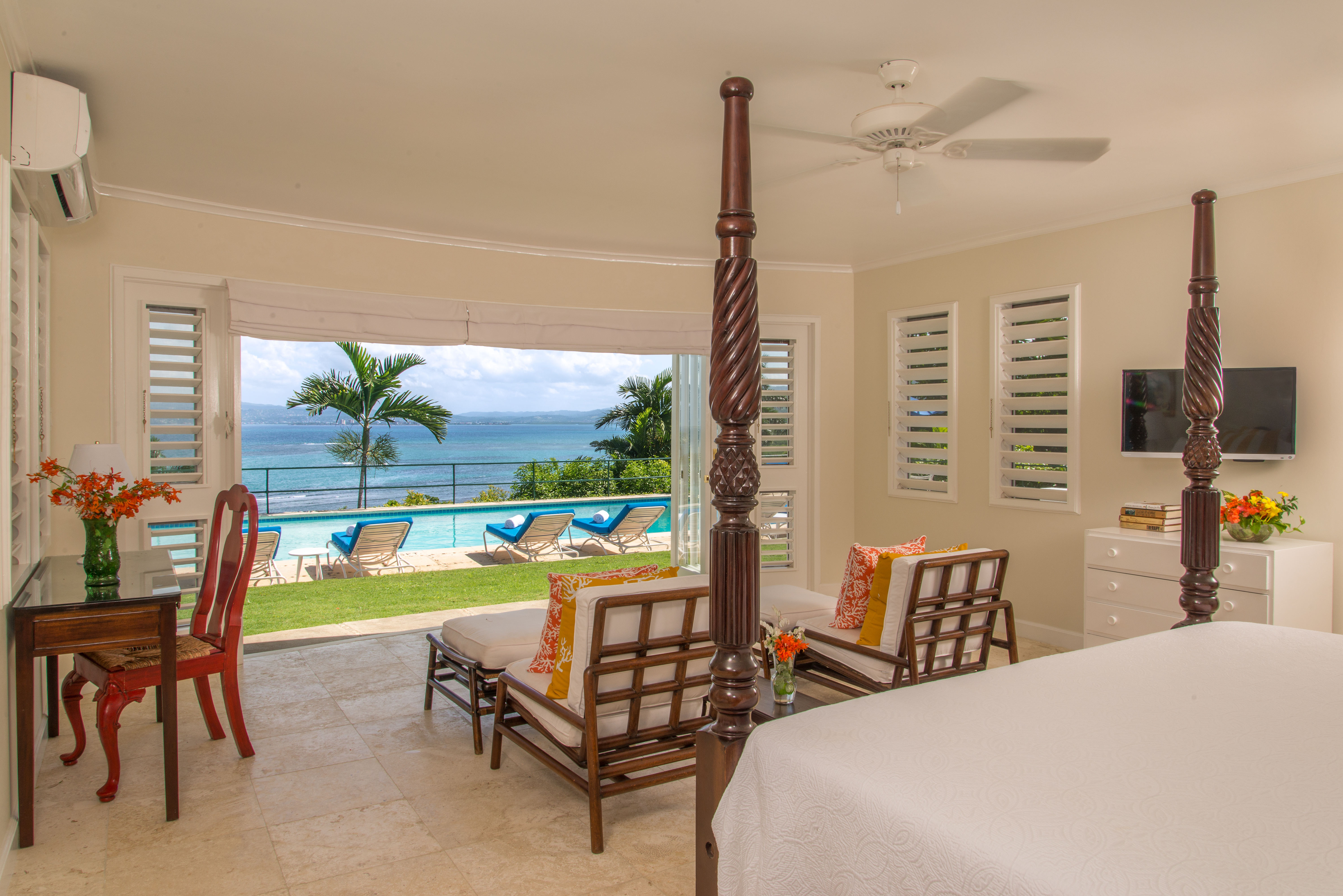 Master Bedroom Pool View