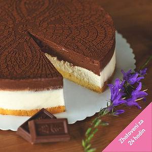 Tvarohovy dort s cokoladovou penou 24 ho