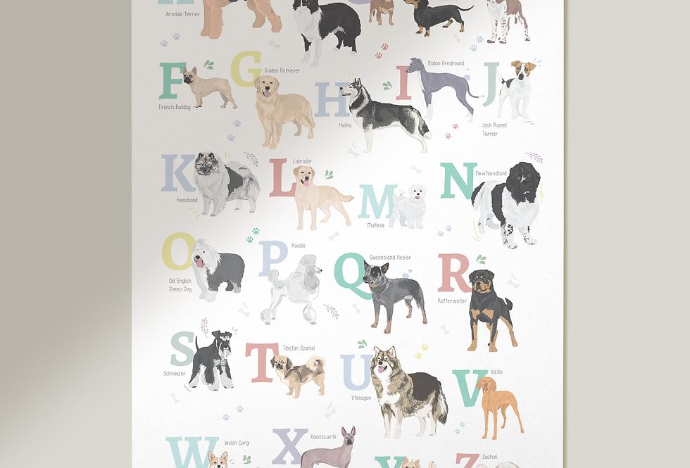 Dog Alphabet Print
